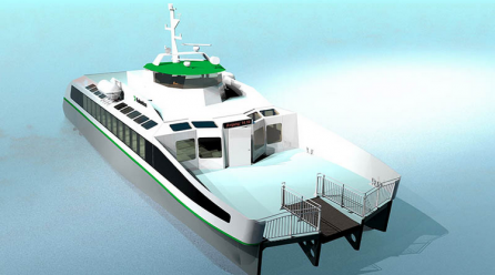First completely electric fast ferry in the world